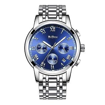 Und Mit Armbanduhr Mehreren Edelstahl Funktionen Luxuriöse Für Business Schwarzem Quarzuhrwerk HerrenAus n80OPkXw