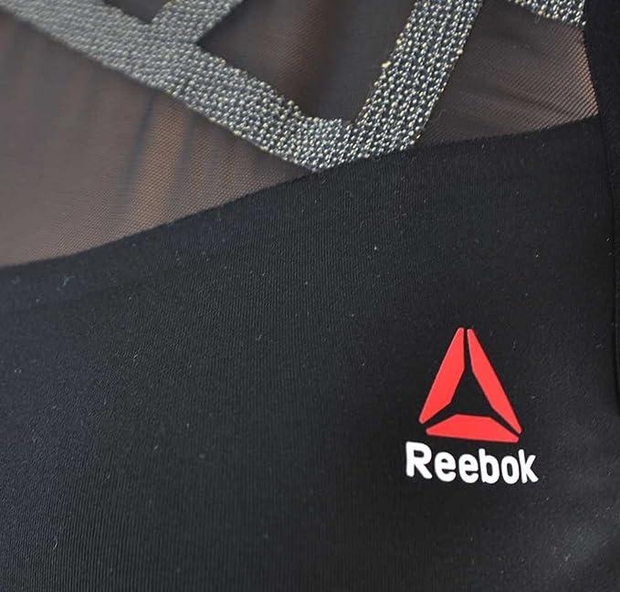 Reebok Cord BRA X Kevla CrossFit Damen Sport Fitness bh SpeedWick Schwarz