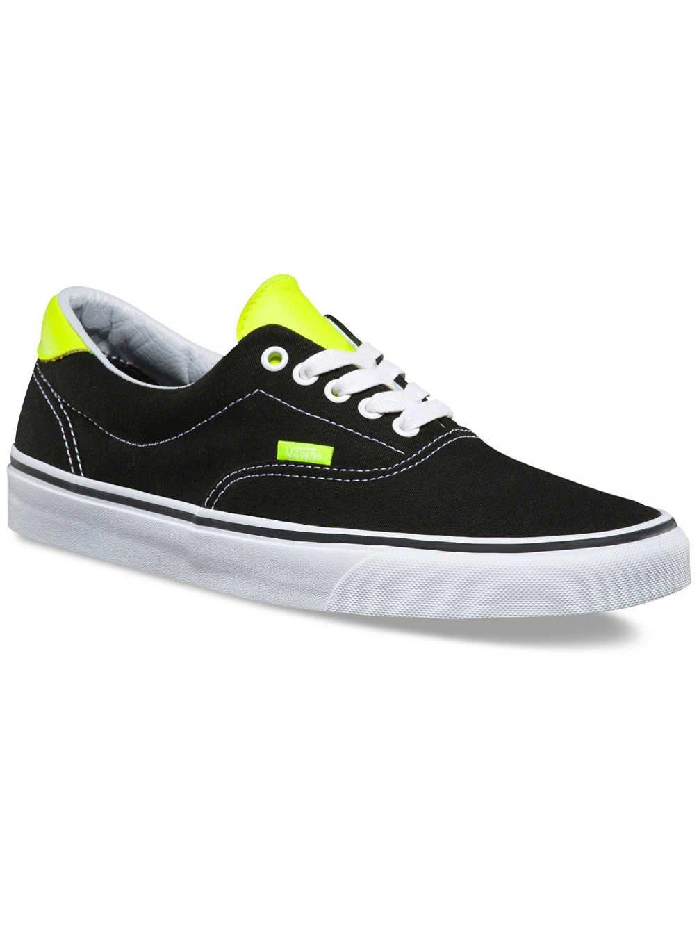 28459ee829 Galleon - Vans Unisex Era 59 (Neon Leather) Black Neon Yellow Men s ...