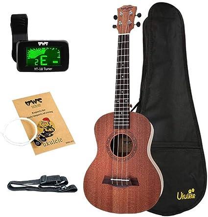 QLJ08 Ukelele de 26 pulgadas Madera de caoba 18 trastes Guitarra ...