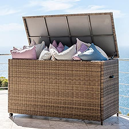 689d60e7d2a Outdoor Rattan Garden Furniture Cushion Storage Box by Nova - Large Storage  Box - Willow  Amazon.co.uk  Kitchen   Home