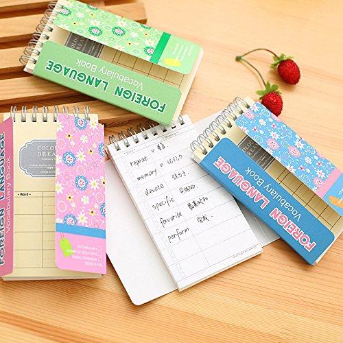 9311a7e97b52 Katoot@ 4Pcs Cute Flower wordbook Kawaii plant vocabulary book Mini coil  notebook Korean stationery office school supplies canetas