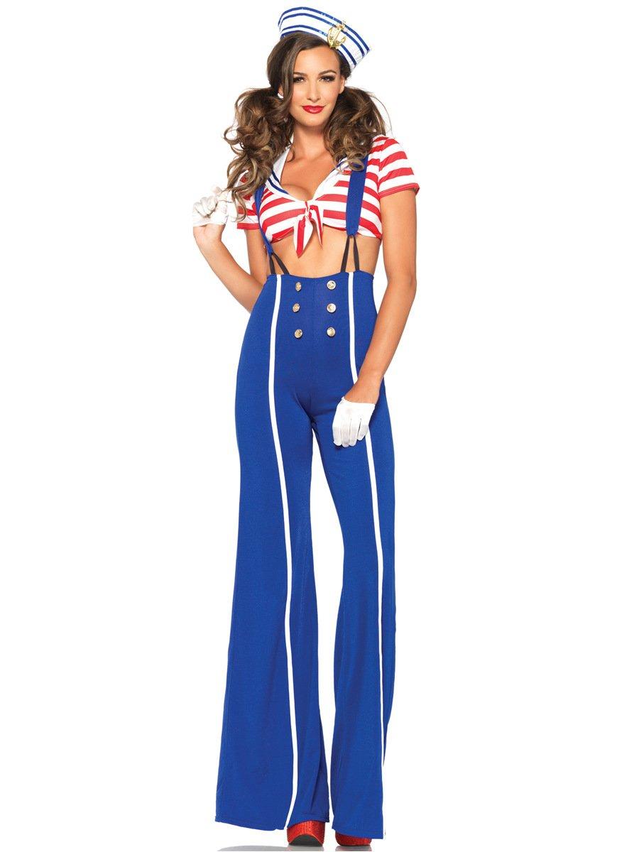 LLY Salopettes Taille Marine Jeux Sailor Costume de Nuit DS en scène Costumes Cosplay