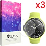 For Ticwatch E Screen Protector, Lamshaw 9H Tempered Glass Screen Protector for Ticwatch E / Ticwatch S Smartwatch (3 Pack)
