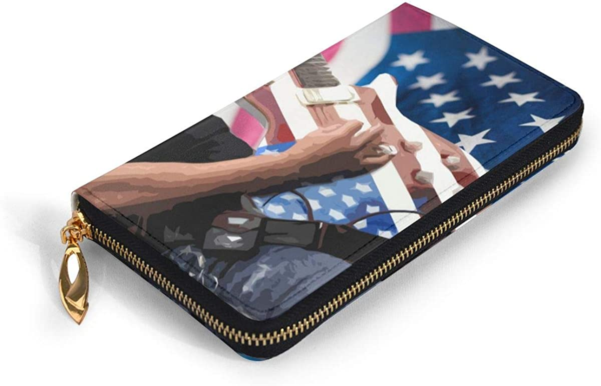 Women Genuine Leather Wallets Human Life Hands Credit Card Holder Organizer Ladies Purse Zipper Around Clutch Cash Pocket