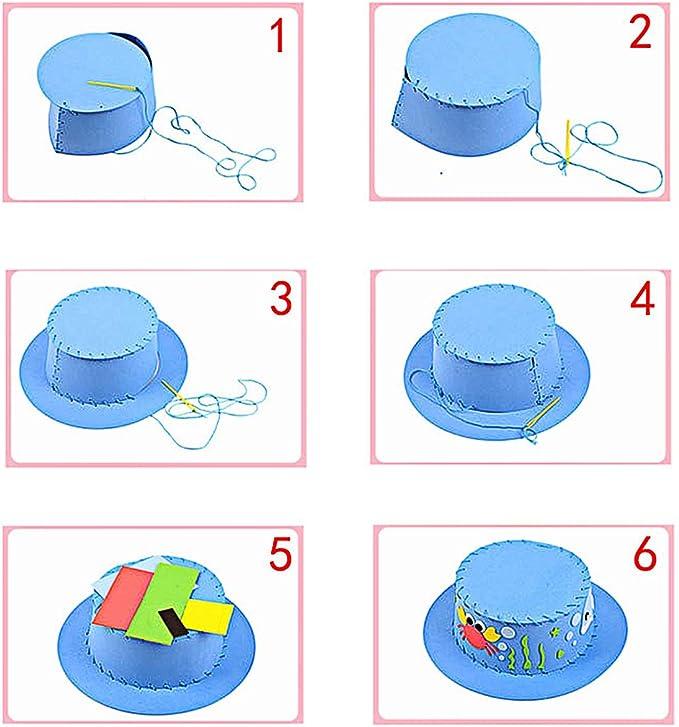 M MOOHAM - Gorro de goma EVA hecho a mano - Sombrero de costura ...