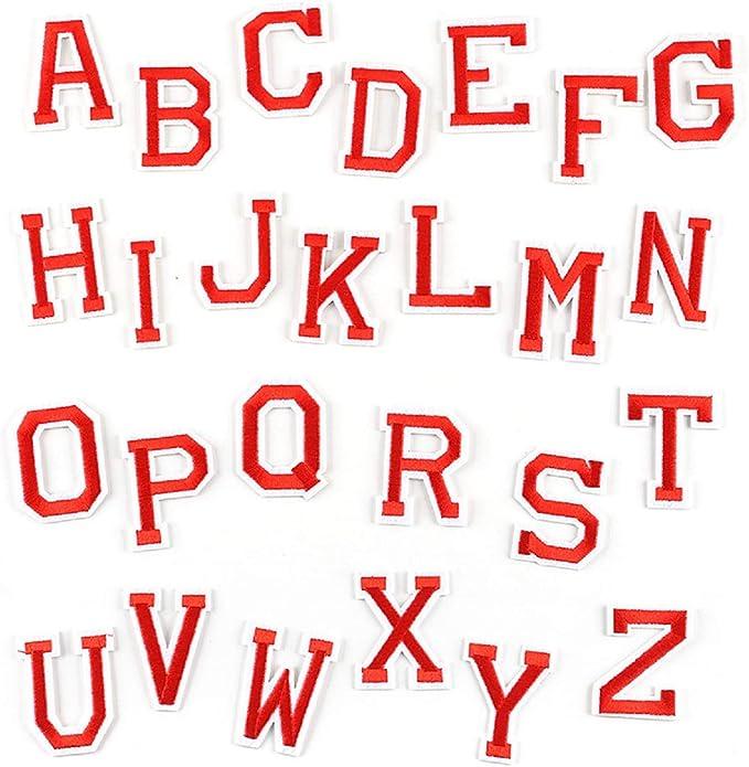 Yalulu Parches bordados con letras del alfabeto inglés de la A a ...