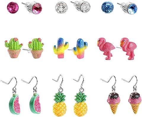 SkyWiseWin Hypoallergenic Earrings Dangle Set for Kids Cute ice cream Swing Pendant Earrings Little Girls Gifts Earrings for Sensitive Ears