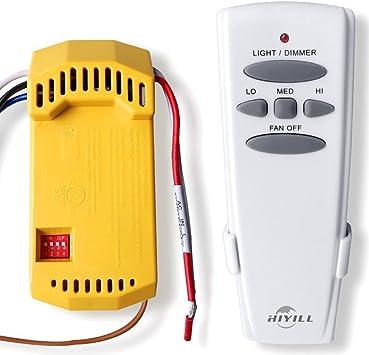 Repacement para Hampton Bay Universal ventilador de techo con luz y mando a distancia Kit de conversión, ventilador control inalámbrico: Amazon.es: Bricolaje y herramientas