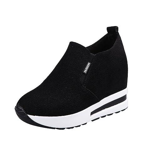 sito affidabile ed30d 7e643 Ginli Scarpe Sportive Sneakers Donna Scarpe da Autunno Autunno Nascoste con  Tacco Alto Scarpe da Viaggio Casual da Viaggio