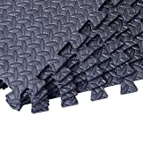 Interlocking Exercise Protective Tile Flooring 72 Sq Ft Gym Floor Mat With Ebook
