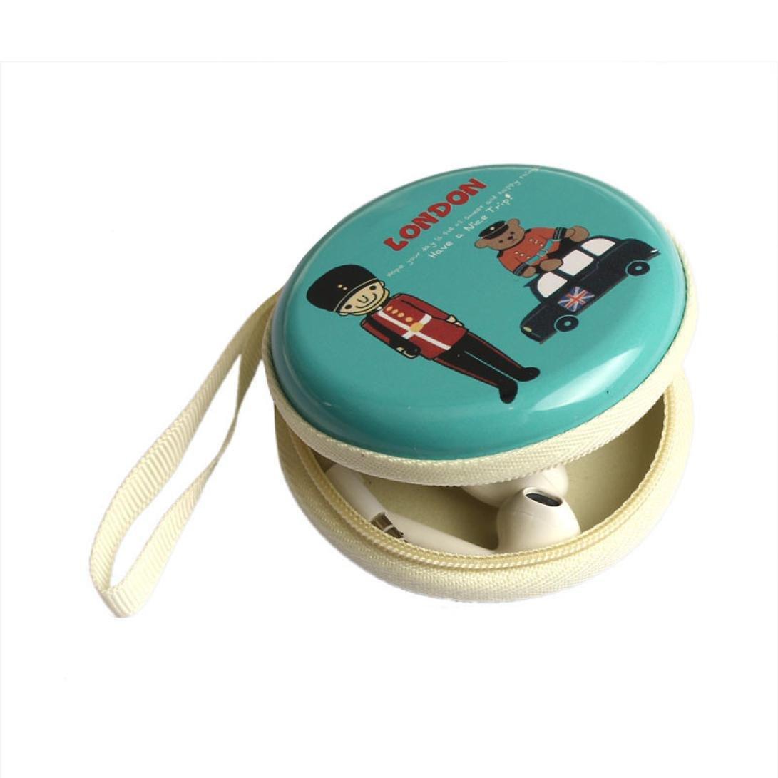 Malloom Fundas y bolsas para auricular Mini cremallera auriculares caja SD Card Bolsa de transporte (azul claro): Amazon.es: Equipaje