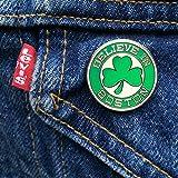Sully's Brand Believe in Boston Green Shamrock Pin