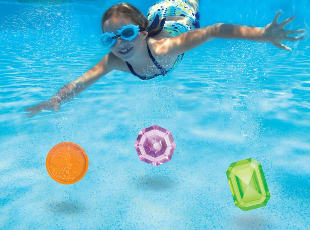 Underwater Swimming Toy for Summer Fun and Pool Party Play Toysmith Pool Dive Coin /& Jewels