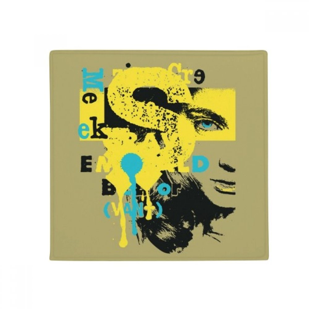 DIYthinker Graffiti Street Yellow bluee Black Woman Anti-Slip Floor Pet Mat Square Home Kitchen Door 80Cm Gift