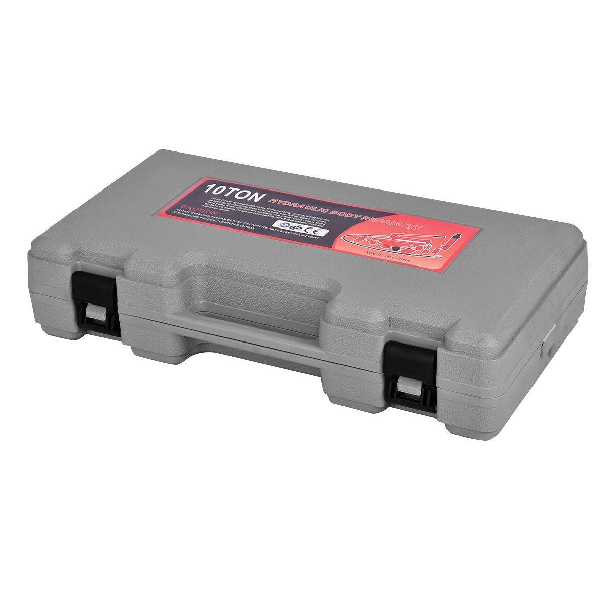 Goplus Porta Power Hydraulic Jack Auto Body Frame Repair Kit Shop Tool Lift Ram w/Carrying Case, 10 Ton Capacity by Goplus (Image #5)