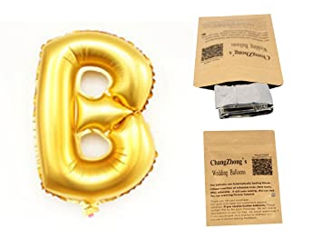 helium foil letters balloons birthday holidays weddin party supply golden 40b