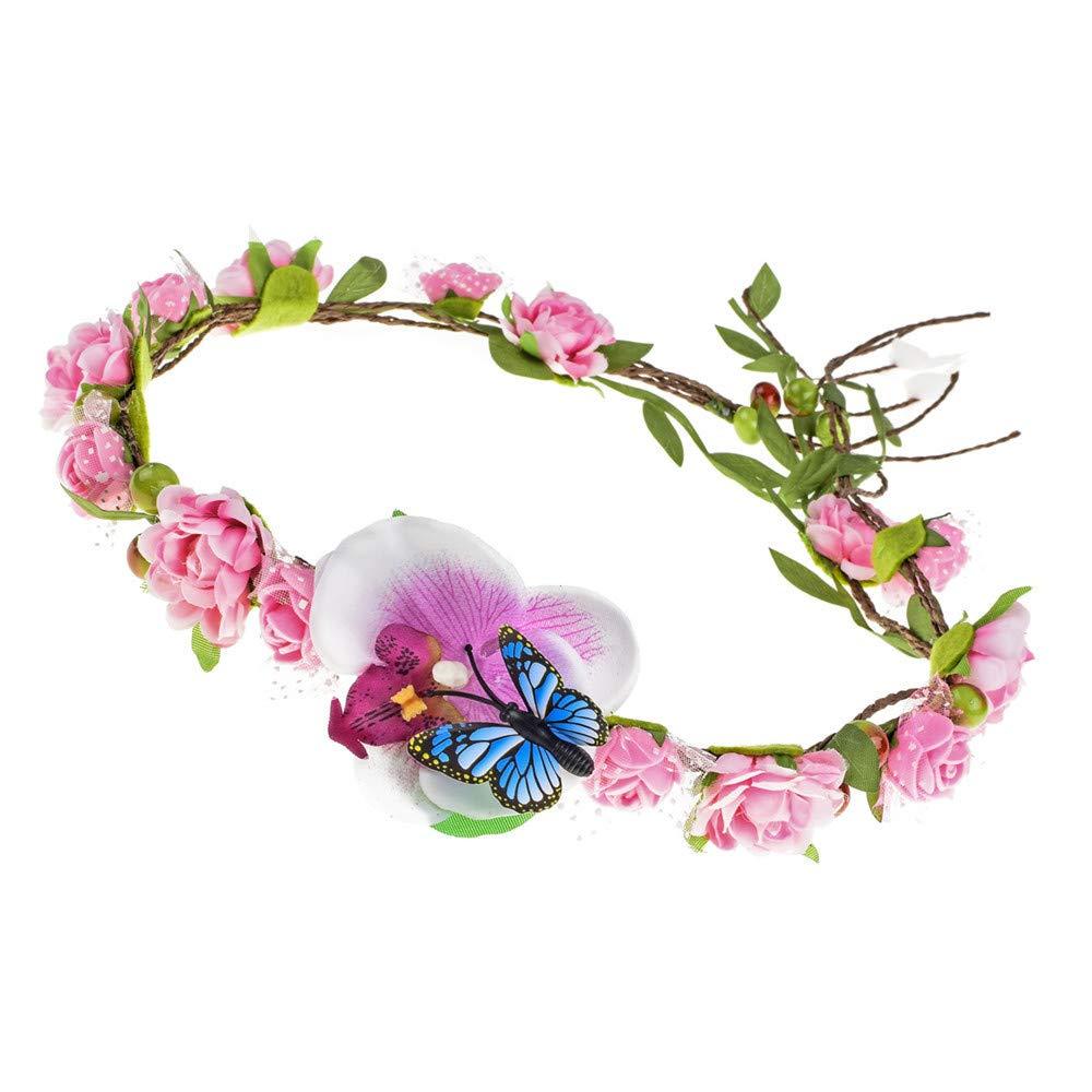 Winslet Fascia dei fiori dei capelli della ghirlanda di nozze floreali della corona della fascia della corona del fiore delle donne