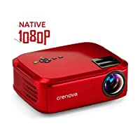 Deals on Crenova Projector Native 1080p LED 6000 Lux Video Projector