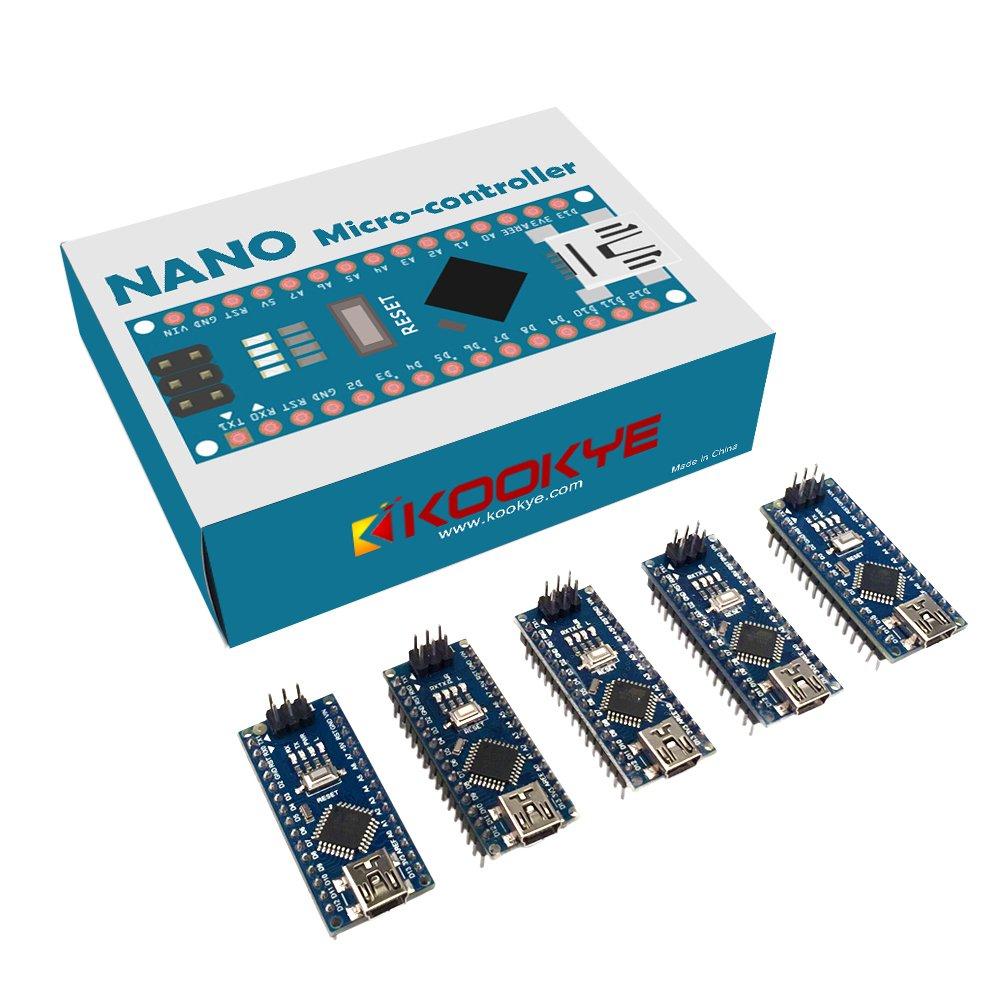 Kookye 5pcs Nano V30 Atmega328p Module Ch340g 5v 16m Mini Usb Micro Arduino Atmega 328 With Controller
