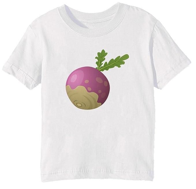 Raíz De Remolacha Niños Unisexo Niño Niña Camiseta Cuello Redondo Blanco Manga Corta Tamaño L Kids
