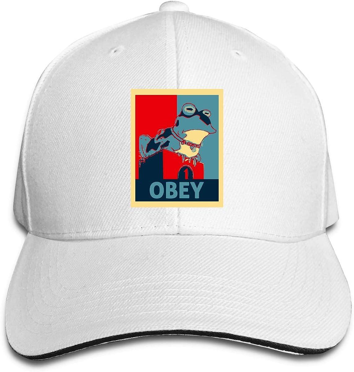 Wanjirong Mens Womens Baseball Caps Adjustable Frog Obey Hypnotoad Sun Hats Unisex