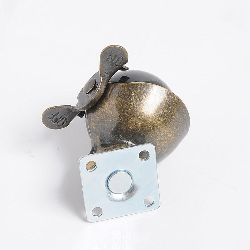 roulettes pivotantes /à capuchon roue /à capuchon de 2 pouces pivotant /à 360 degr/és bronze vintage capacit/é de charge de 30 kg 66 lb Paquet de 4 roulettes de frein