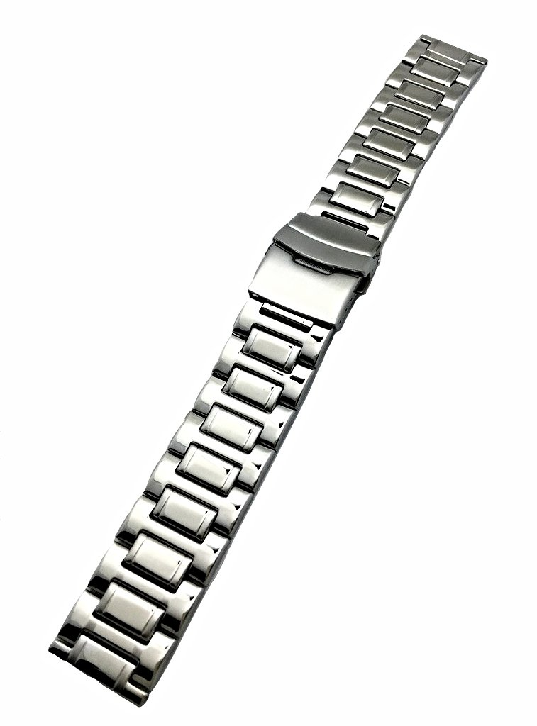 22mm Metal Watch Band by NewLife | Men's Women's Silver Stainless Steel Strap Replacement Wrist Band Watch Bracelet with Clasp That Brings New Life to Any Watch