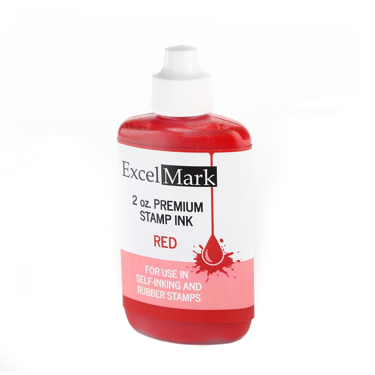 Timbro autoinchiostrante refill Ink by Excelmark–2oz–Red Ink–Ships free by Excelmark Discount Rubber Stamps