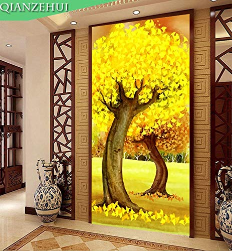 - Zamtac,Needlework,DIY Painting Cash Cow Tree Cross Stitch,Gold Rich Tree Cross-Stitch,Sets for Embroidery kit Wall Home - (Size: 11CT 102x178CM Cotto)