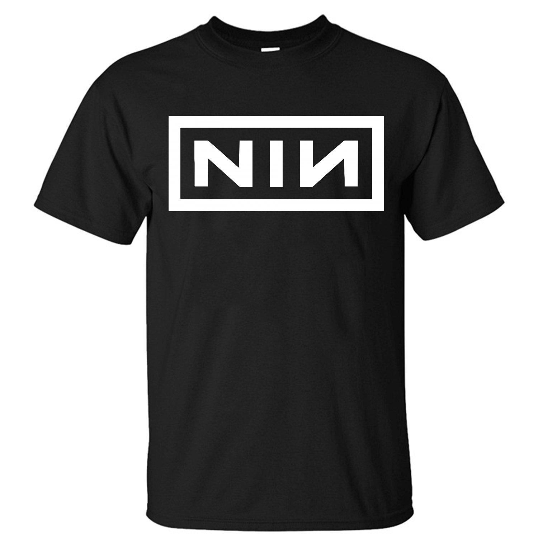 XTMTM Mens Nine Inch Nails NIN logo T-Shirt – Hntee.com