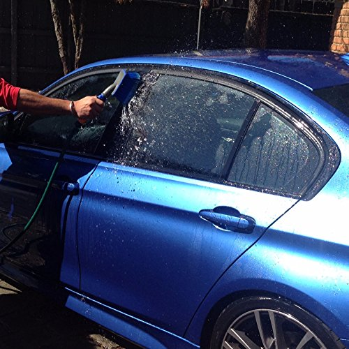 Premium Car Wash Brush - (Free 12mm hose Connector Included) Now on Discount - Super Washes In Under 10 Minutes - Commercial or Home Use - Multipurpose For Cars Boats Vans Bikes SUVs Trucks Greenhouses Driveways Bins Homes Windows & More.. (Snow Car Cleaning Kit)
