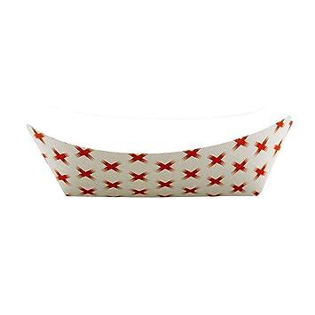 50pc Disposable Paper Food Tray X Design Super Bowl  Nacho Trays BULK LOT