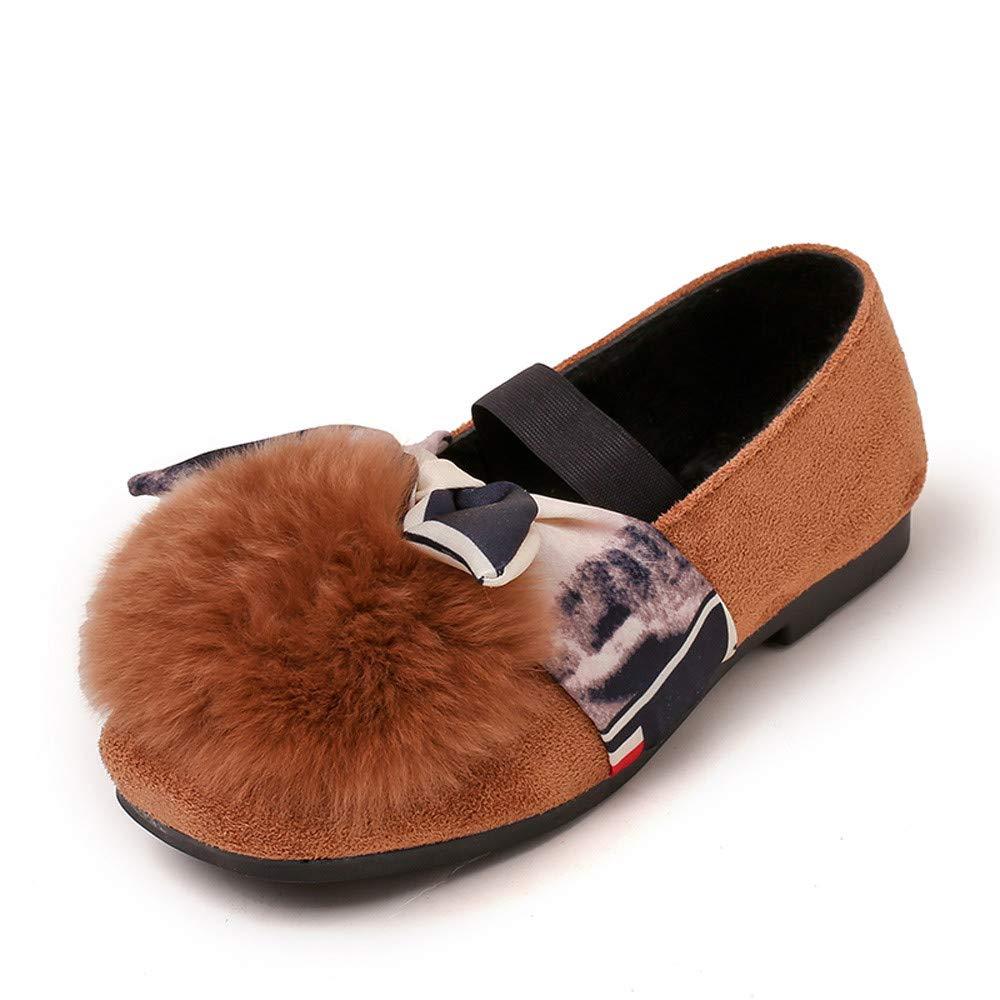 LILICAT ✈✈ 2019 Moda Vendas para niños, Zapatos Individuales, Zapatos de Princesa Niños pequeños Niñas Mullidas Piel sintética Princesa Zapatillas ...