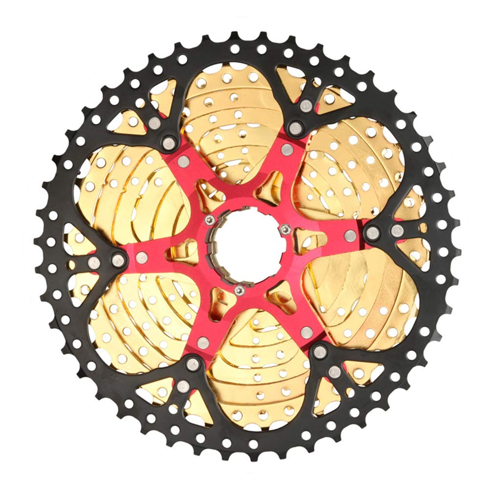 LYzpf Freewheel Speed Cassette Bicycle 10 Speed 11-46T Bike Gear Sprocket Replacement Accessory Mountain Cycling Parts