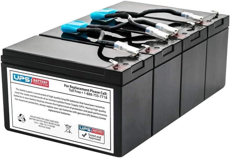 UPSBatteryCenter Compatible Replacement Battery Set for APC Smart UPS 3000VA RM 3U SU3000RM3U