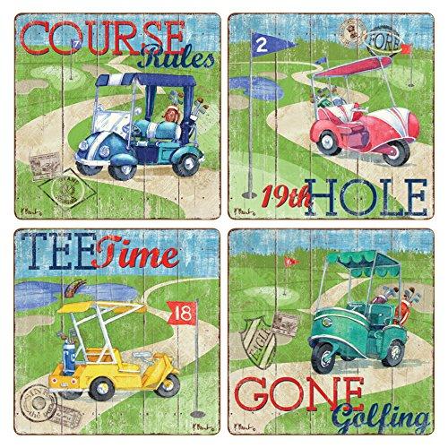 Golf Coaster Set - CoasterStone AS10166