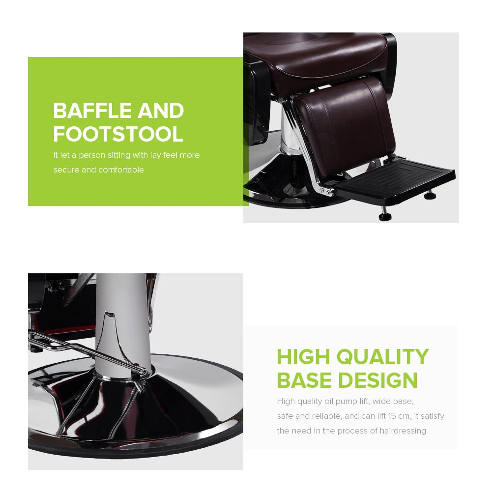 Amazon.com: Real Relax Salon Hydraulic Recline Barber Chair Beauty ...