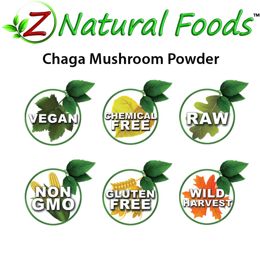 Chaga Mushroom Powder - 5 lb - Support Your Immune System & Antioxidant Benefits - Steep Like Tea or Add To Smoothies & Recipes - Wildcrafted In USA & Canada - Raw, Non-GMO by Z Natural Foods