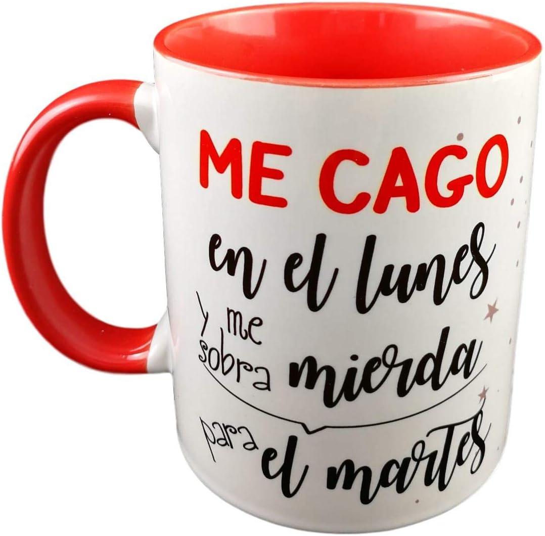 Taza Color Frase ME CAGO EN EL Lunes Y ME SOBRA Mierda para EL ...