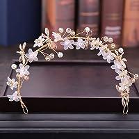 6acfd79df350 Vivianu Elegante Moda Tiara Flor Hecha A Mano Floral De Cristal De Lujo  Niñas Mujeres Joyería