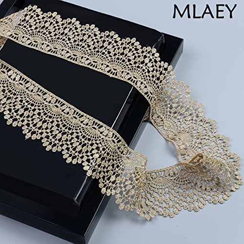 High Quality | Lace | Free shipping6cm or 2.36inch wide-5Yards/lot Victorian Antique Metallic Gold Embroidery Lace Trim for Bridal,Wedding Gown, Cost | by HeroBar991