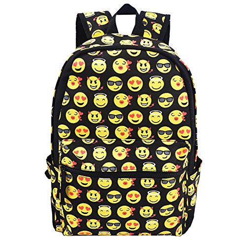 LUOLAX Smiling Face Casual Backpack,Daypacks Back to School for Cool Kids