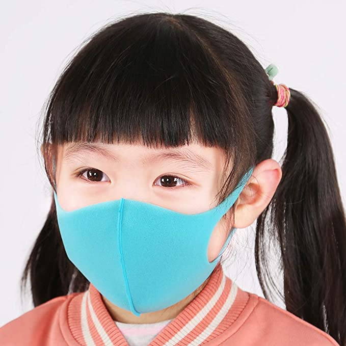 6Pcs Childrens Face Macks with 12Pcs Activated Carbon Filter Replaceable Filters Cute Print Face Bandanas Cotton