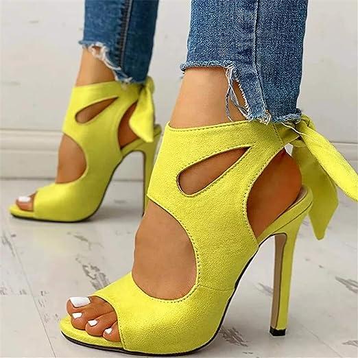Heel Sandals Cross Strap Comfortable