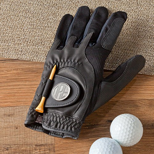 Personalized Golf Glove - Includes Monogrammed Ball Marke - Monogrammed Golf Glove - Monogrammed Golf Ball Markers