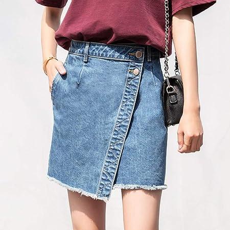 QZBTU Faldas Mujer Falda Asimétrica Mujer Falda Borla Cintura Alta ...