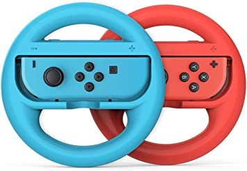 Elyco Volante Grip para Nintendo Switch, 2 Piezas Racing Game Steering Wheel Mandos Controladore Handle Grips para Mario Kart Juegos para Nintendo Switch JoyCon: Amazon.es: Electrónica