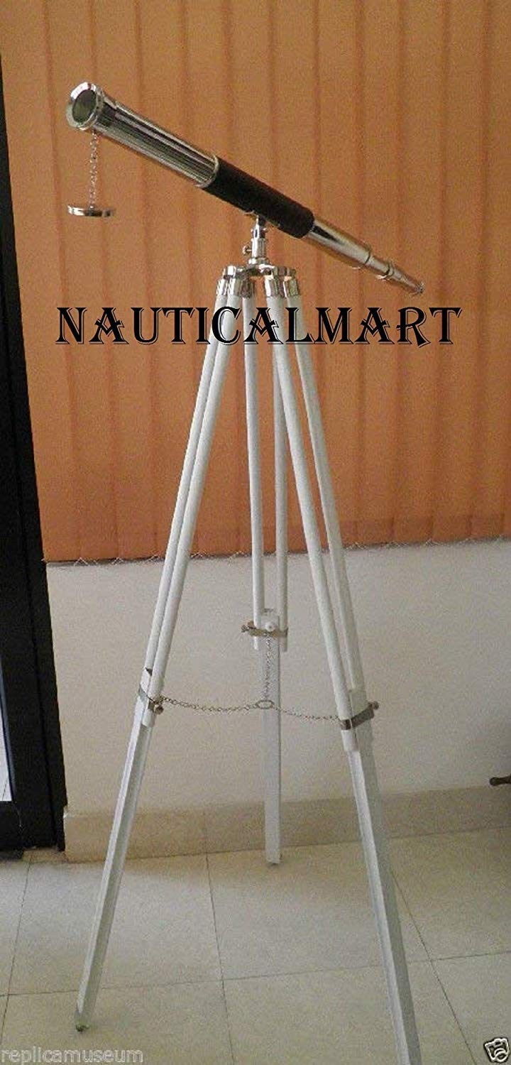 NAUTICALMARTヴィンテージロイヤル床装飾Telescope with Tripod Stand B07F58F5Z7