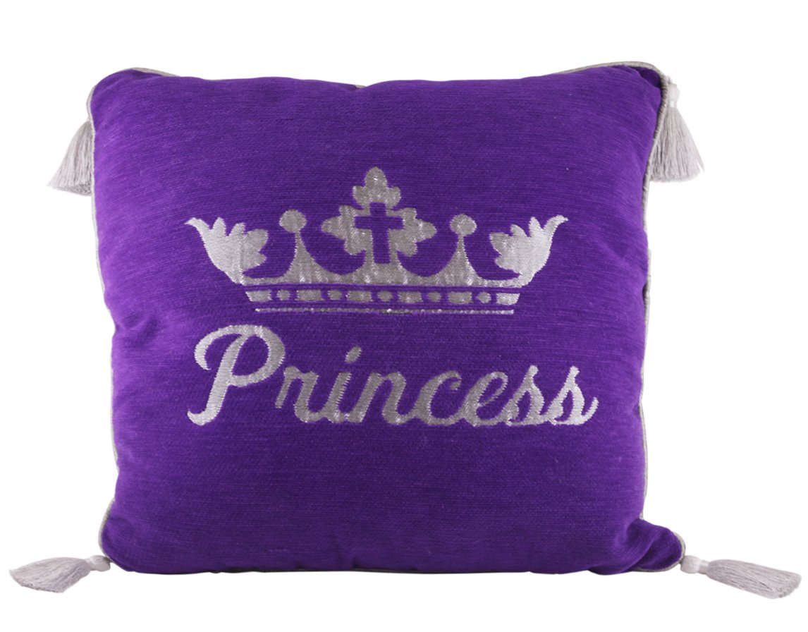 African American Expressions - Princess Purple Throw Pillow, Large, (Chenille, 16'' x 16'') DPL-02